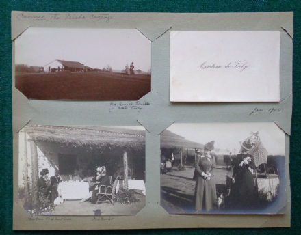 Countess Torby Wife of Grand Duke Michael Romanov of Russia - Photographs Cannes & Calling Card 1900